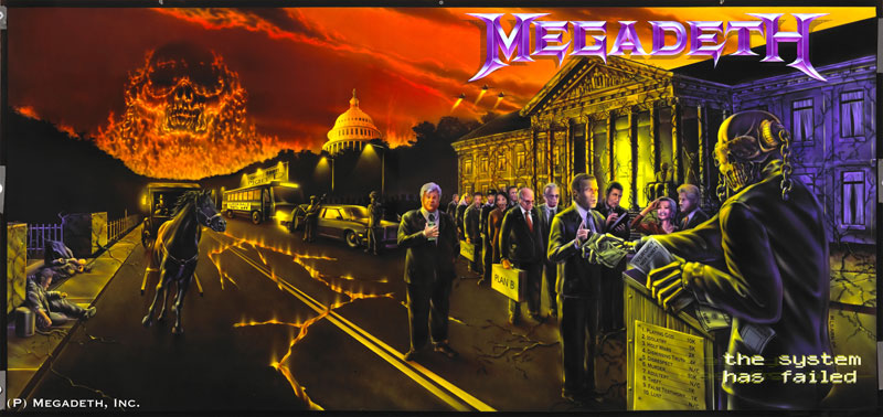 Megadeth Album Covers Better have a large bathroom